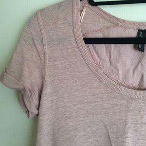 a3f10899f38e Cynthia Rowley Tops - Cynthia Rowley Dusty Rose Linen T-Shirt