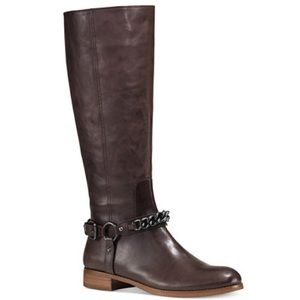 Coach Shoes - ⚡️Sale [Coach] Riding Boots w/ Chainlink - NWT