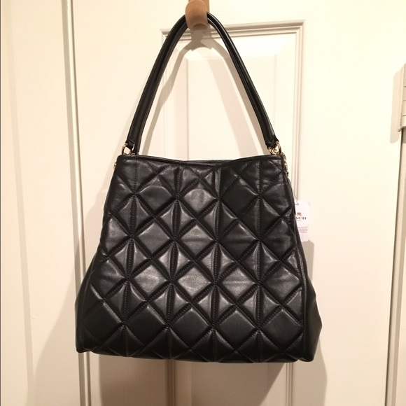 64% off Coach Handbags - Black Quilted Leather Coach Purse from ...