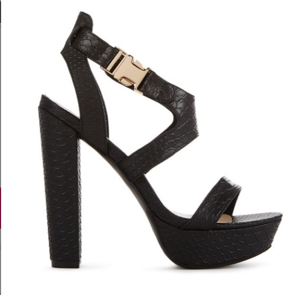 JustFab Shoes - JustFab Reptile Heeled Sandals!