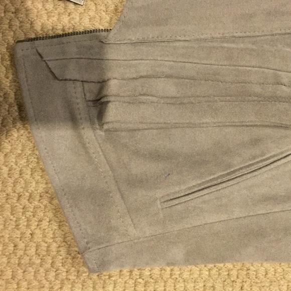 BCBGMaxAzria Jackets & Coats - Bcbg maxazria gray faux suede Moto vest