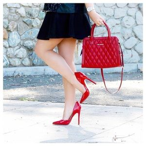 JustFab Red D'orsay Pumps!
