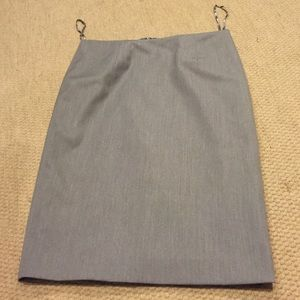 Gray career skirt