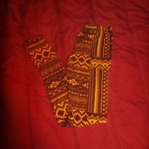 Pants - Tribal print leggings