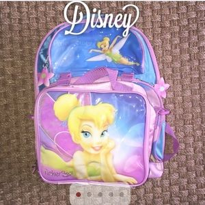 Disney Handbags - Disney Tinker Bell Backpack and Lunch Box Set