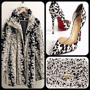 Vintage Jackets & Blazers - Paris Hollywood glamour oversized faux fur coat