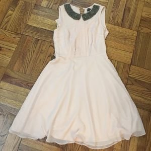 Dorothy Perkins Peach Chiffon Dress