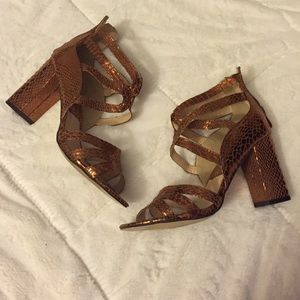 Bronze Reptile Gladiator Sandals!