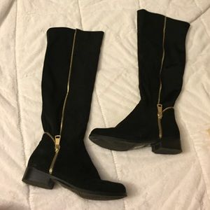 Black N.Y.L.A Suede Knee High Boots!