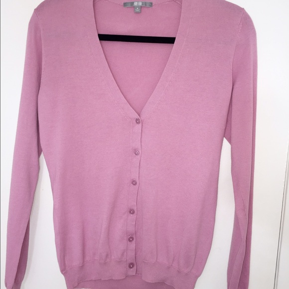 83% off UNIQLO Sweaters - UNIQLO pink cardigan button up down from ...