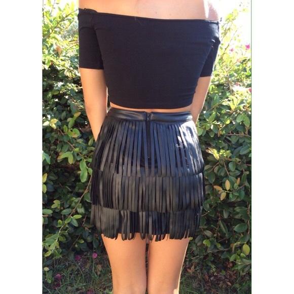 20 h m dresses skirts fringe leather mini