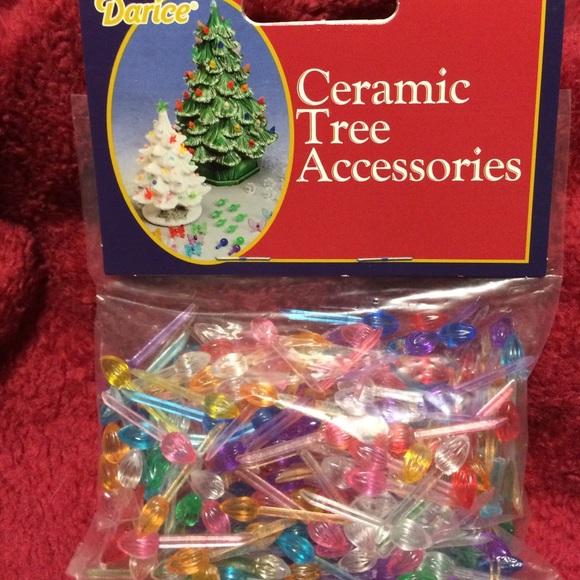 Ceramic Christmas Tree Bulbs 25 New Nwt