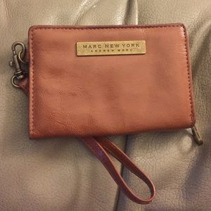 Andrew Marc // Marc New York Tan Leather Wristlet