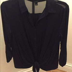 Ann Taylor Blouse with tie