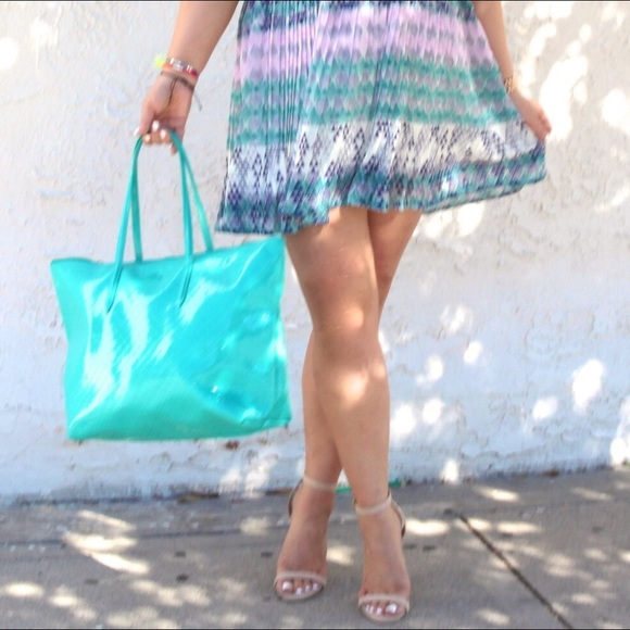 Lacoste Handbags - Lacoste Turquoise Tote!