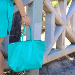 Lacoste Bags - Lacoste Turquoise Tote!