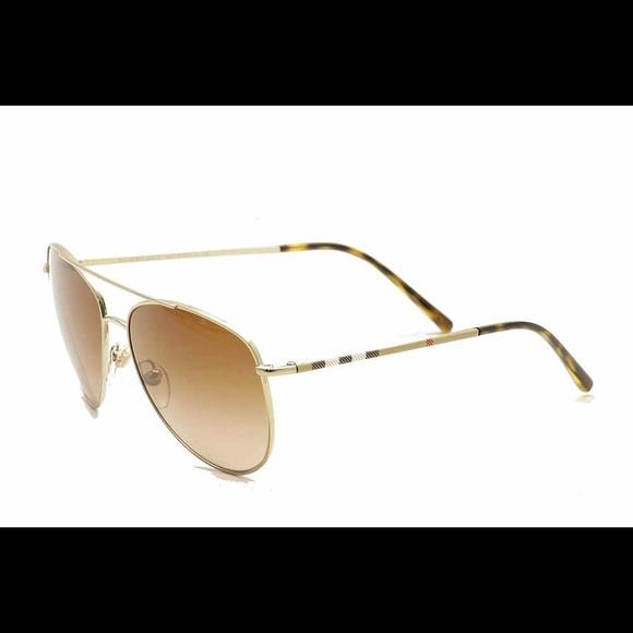 0a9740089f Burberry B3072 B 3072 Fashion Aviator Sunglasses