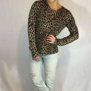 Jones New York Leopard Silk Blend Sweater