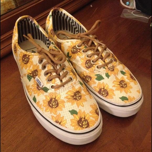 vans sunflower shoes