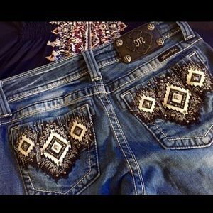 HOT ENOUGH 4 A PARTY COVER!Aztec Miss Me Skinny