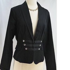 Fitted Size Military Blazer by CABI // Black