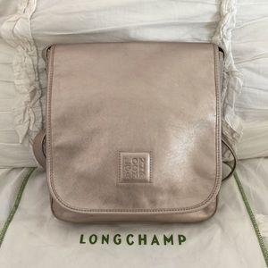 •Metallic Longchamp Crossbody Bag•