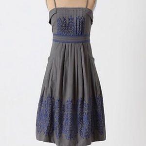 ✨HP✨Anthropologie Floreat Sewing Circle Dress