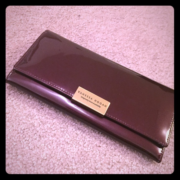 a31135e2a0 Vanessa Hogan Purple Enamel Wallet FROM Australia.  M_56a525239c6fcf615b0065dd