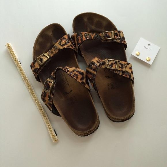 219749f1e6c0 Birkenstock Shoes - Unique Leopard Print Birkis Size 37