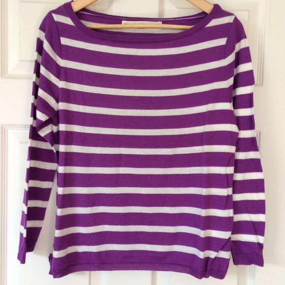 Zara Sweaters - Zara purple and white striped sweater