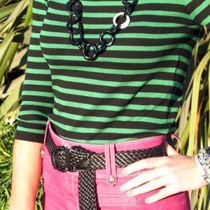 Zara Sweaters - Zara black and green striped sweater