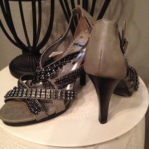 Not Rated Shoes - Grey Not Rated embellished heels