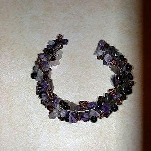 Sale!! Amethyst multi stone bracelet