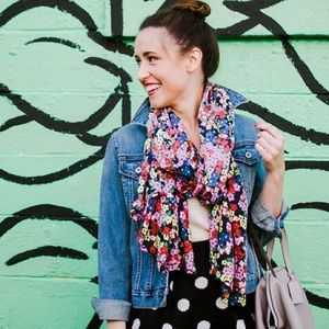 Boden Accessories - Boden floral scarf. Gorgeous colors!