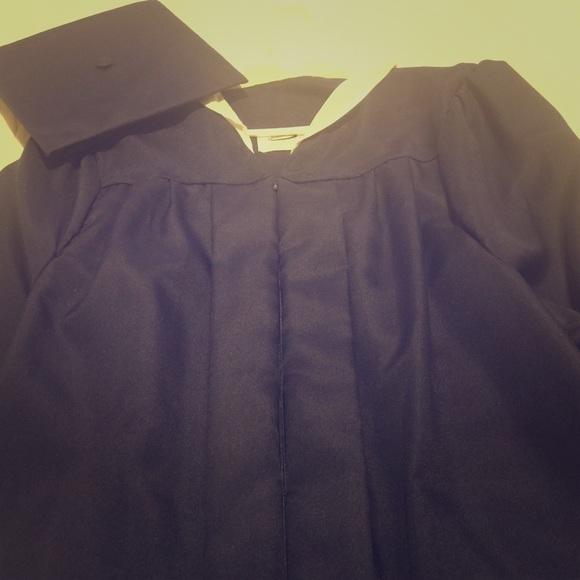 Jostens Dresses | Navy Graduation Gowncap | Poshmark