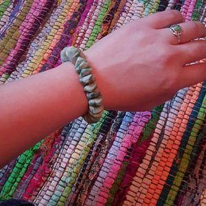 Green marbled stone bracelet