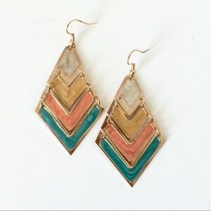 NEW Art Deco Chevron Earrings