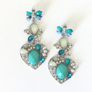NEW Fab Aqua Earrings
