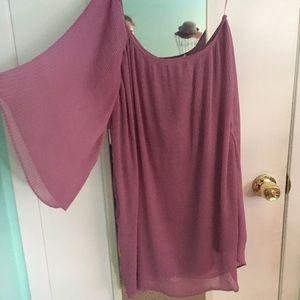 Purple One Shoulder Mini Dress