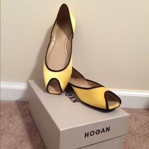 Hogan Shoes - Hogan yellow flat