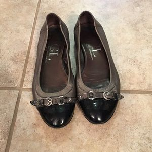 AGL black and pewter flats
