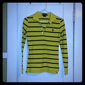 "Ralph Lauren Sport sz S striped ""Skinny Polo"""