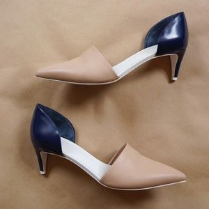 VINCE color block d'Orsay Pump - kitten heels