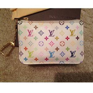 Authentic Louis Vuitton multi color cles Keychain