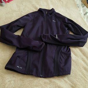 Nike dri-fit zipped jacket