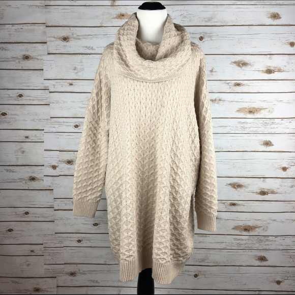 e9d60a50ef1 H M Dresses   Skirts -  H M  Oversized Cowl Neck Sweater Dress Knit Beige