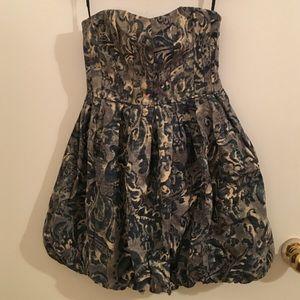 Joie blue floral bubble hem dress