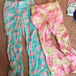 Lilly Pulitzer linen lounge pants size S