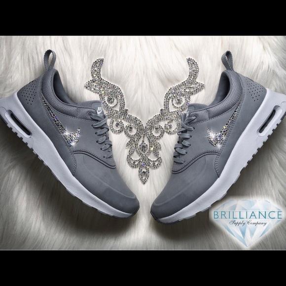 cheaper 471a9 16038 Swarovski Nike Air Max Thea Premium Stealth Grey