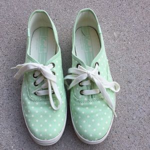 Keds, mint polka dotted sneakers